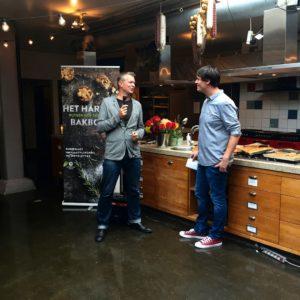 Rutger van den Broek met Carrera Culinair uitgever Arjan Weenink